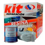 Kit de reparación de Resina de poliéster y fibra de vidrio PLAINSUR